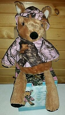 Retired!!! SCENTSY BUDDY Meadow the deer pink  Mossy Oak Camo LIMITED Edition