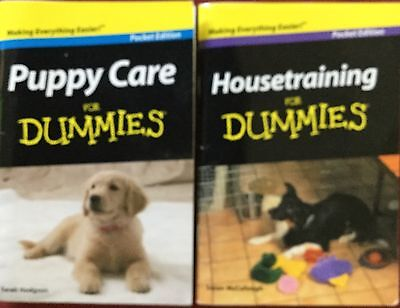 HOUSETRAINING FOR DUMMIES & PUPPY CARE FOR DUMMIES Pocket Editions NEW