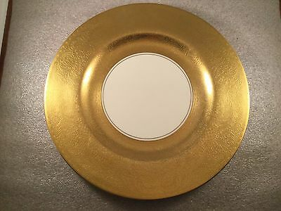 "10.75"" Pickard China Gold Encrusted Floral 2025 Porcelain Dinner Plate Charger"