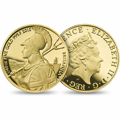 The Britannia 2015 Fortieth-Ounce Gold Proof The smallest of the UK's coins