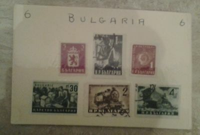 Stamps Bulgaria,  a small collection on dealers card from Bulgaria