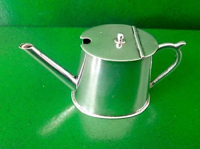 Victorian Novelty Antique English Sterling Silver Mustard Pot Saunders Shepherd