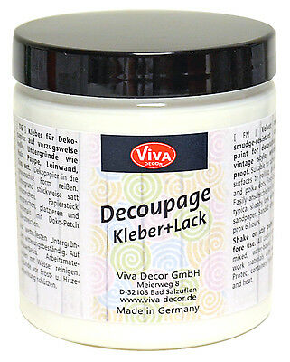 Viva Decor - Decoupage Kleber & Lack 250 ml, Serviettenkleber, Decopatch