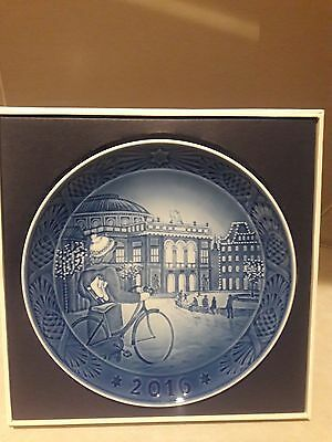Royal Copenhagen, 2016 Annual Christmas Plate, First Quality, Mint/box Free Usps