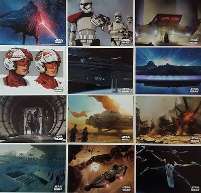 Star Wars FORCE AWAKENS SERIES 1 CONCEPT ART Card Set of 20 topps 2015