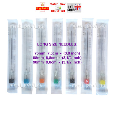 !! CLEARANCE !!! 0.7x50 & 0.9x50mm, 2 inch LONG NEEDLES KDM KD-FINE STERILE