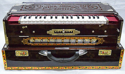 Scale Changer~Harmonium~9~Teak Wood~Tripple Reed~Bass/male/female Bina~Baja~Peti