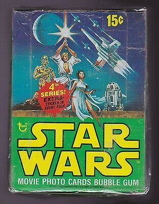 1977 Topps STAR WARS 4th Series Box of Unopened Packs