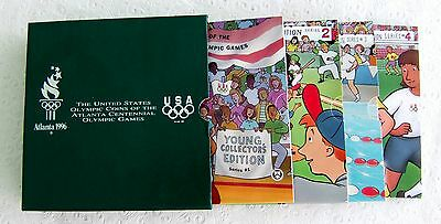 Young Collectors 1995/96 BU Atlanta Olympics- ALL 4 sets in  GREEN  box.- RARE