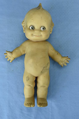 """Vintage CAMEO STANDING 11"""" KEWPIE RUBBER DOLL with SQUEAKER WORKS NAKED"""