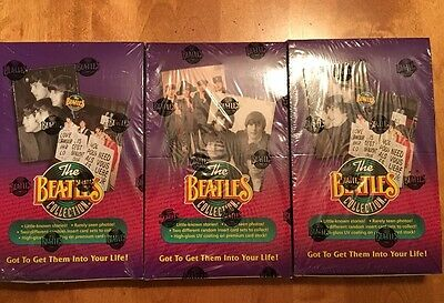 The Beatles Trading Cards Sealed Box Lot Of 3