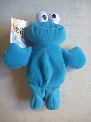 SESAME STREET Beans COOKIE MONSTER soft plush beanie beanbag toy NWT Tyco 1997