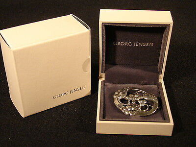 Early GEORG JENSEN G1 Sterling Silver Brooch #101 Moonlight Grapes FREE SHIPPING