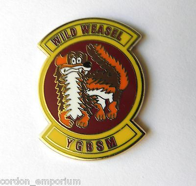 Wild Weasel F4 Us Air Force Usaf Lapel Pin Badge 1 Inch