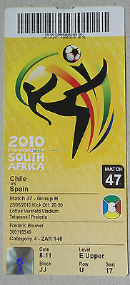 2010 WORLD CUP FINALS GERMANY - TICKET - GAME.47 CHILE vs. SPAIN - 25TH JUNE