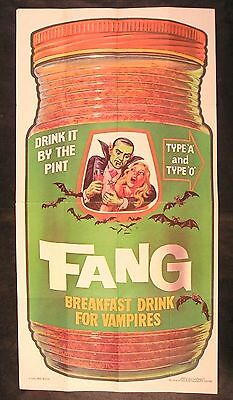 1973 Topps Wacky Packages Test Poster Series FANG BREAKFAST DRINK #22 of 24 nm-