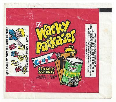1974 Wacky Packages OPC (Canada) 2nd Series 2 WAX PACK WRAPPER error ptd in USA