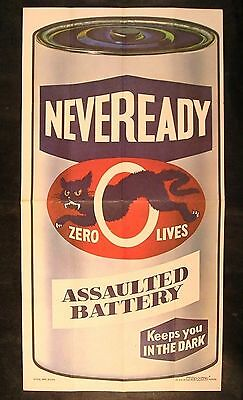 1973 Topps Wacky Packages Test Poster Series NEVEREADY BATTERY #4 of 24 nm-