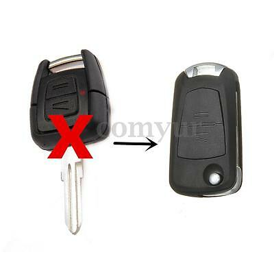 2 Button Flip Remote Key Fob Case Shell For Vauxhall Opel Astra G Vectra zafira