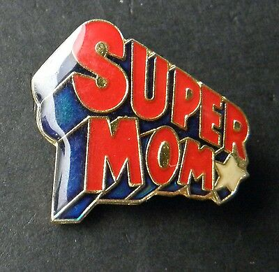 Super Mom Star Mothers Day Cute Lapel Pin Badge 1 Inch