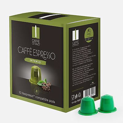 160 X Nespresso Compatible Coffee capsules Pods Italian Coffee INTENSO
