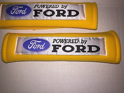 Yellow Seat Belt Cover Shoulder Pads in 2 pcs-FORD