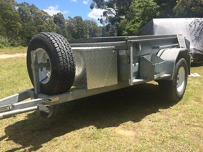 7x5 Galvinised Heavy Duty 4x4 500mm side trailer