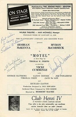 MOTEL Playbill Signed by SANDY DENNIS + Two More...