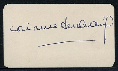 French Film Star CORINNE LUCHAIRE Autograph - ca.1936