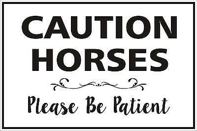 Float Decal - Caution Horses