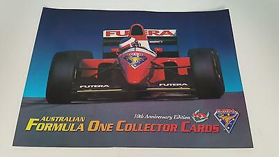 1994 Futera Australian Formula F1 Collector trading Cards SELL SHEET
