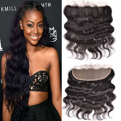 Lace Frontal 13x2 Peruvian Indian Human Hair Body Wave Lace Closure Ear To Ear