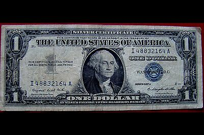 USA. Silver Cert. One Dollar, I 48832164 A, series 1957 A