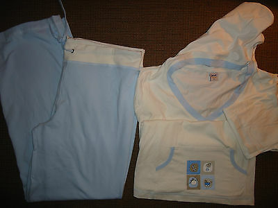 Track Suit Lounge wear Maternity GIFT of New Mom Hoodie Pajama 2 pc set XL