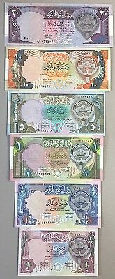 Kuwait Banknotes, 4th Issue 1992, Complete Set (1/4 To 20 Dinars)