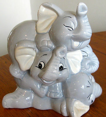Collectable-Vintage-Retro-Ceramic Elephant-Figural-Ornament-Money Box  (298)