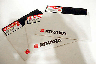 """3x Vintage 5.25"""" Floppy Disk MHD2 High Density HD Double Side DS ATHANA"""