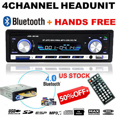 Bluetooth Car Stereo Audio In-Dash FM Aux Input Receiver SD USB MP3 Player TN