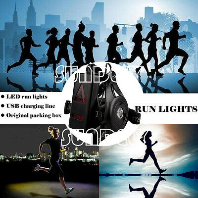 UK New Torch For Outdoor Sports Night Running Flashlight USB Charge Chest Lamp