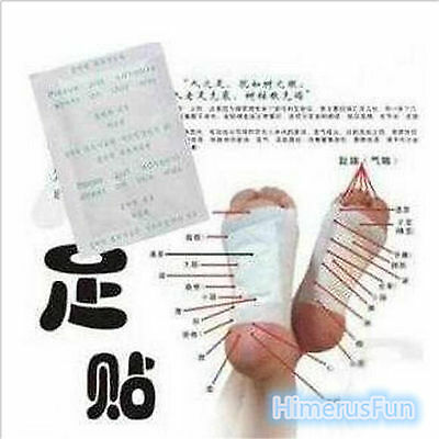 10PCS Detox Foot Pads Patch Detoxify Toxin Adhesive Keeping Fit Health Care