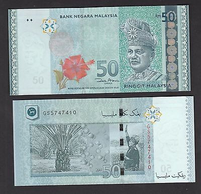 2009 Malaysia 50 Ringgit Paper Banknote,P-New, UNC Note, Best+Most Beauty