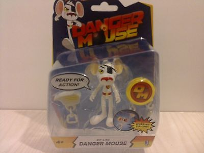 "Danger Mouse 3"" Action Figure - Zip-Line Danger Mouse - New"
