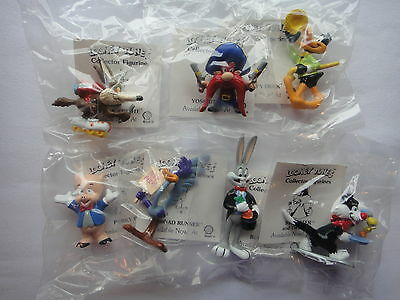 7 Warner Brothers Looney Tunes Figures Applause Bugs,Daffy,Yosemite,Wile,Porky +