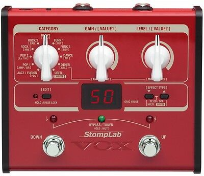 VOX StompLab SL1B Modeling Bass Guitar Multi-Effects Pedal NEW F/S Japan Import