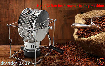 New Manual Stainless Steel Coffee Roaster Machine tool for home use