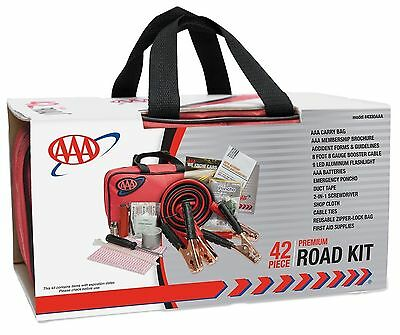 Roadside Emergency Assistance Kit 42-Piece First Aid Survival Auto Car Travel