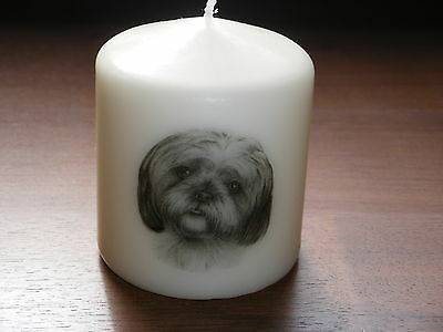 Candle Picture of Shih Tzu Dog Can be Personalised Birthday Gift Memorial New