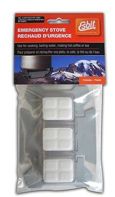 Esbit Folding Pocket Stove with Six Solid Fuel Burning Tablets 14g each Camping Cooking Supplies