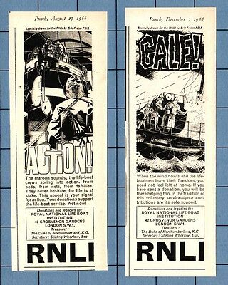 ROYAL NATIONAL LIFEBOAT INSTITUTION - Donations   (1966 Advertisements x 2)