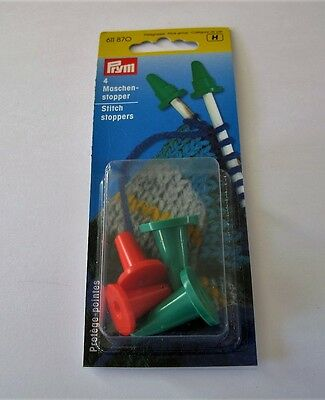 Knitting - Pack of 4 PRYM  Stitch Stoppers / Needle Protectors
